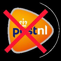 niet mogelijk via post nl