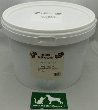 BANDIT | Emmer met gedroogde Kipsnacks/nekken | +/- 1 KG