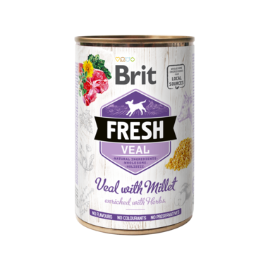 BRIT | Fresh Veal with Millet | 400 gr