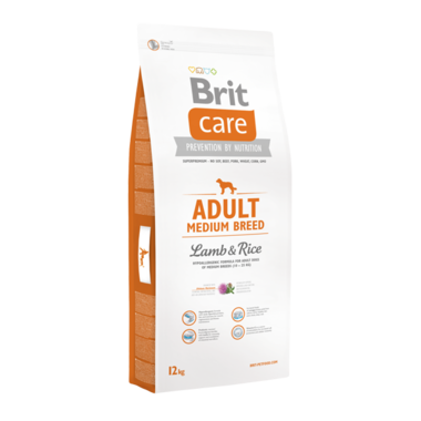BRIT CARE | Adult Medium Breed Lamb & Rice | 12 kg