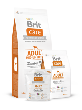 BRIT CARE | Adult Medium Breed Lamb & Rice | 3 kg