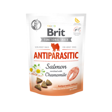 BRIT CARE | Graanvrije functional snack: Anti-Parasitic (zalm) | 150 gram