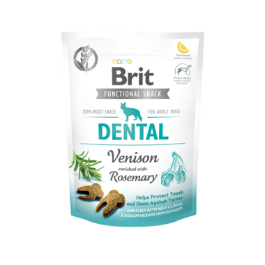 BRIT CARE | Graanvrije functional snack: Dental (hert) | 150 gram