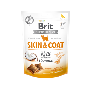 BRIT CARE | Graanvrije functional snack: Skin & Coat (krill) | 150 gram
