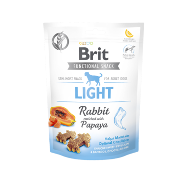 BRIT CARE | Graanvrije functional snack: Light (konijn) | 150 gram