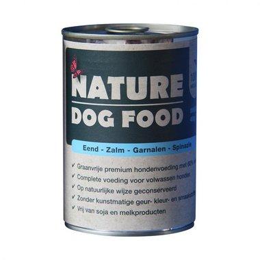 NATURE DOGFOOD | Eend, Zalm, Garnaal & Spinazie | 400 gr