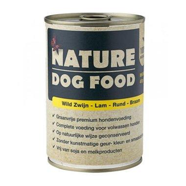 NATURE DOGFOOD | Wild Zwijn, Lam, Rund & Braam | 400 gr