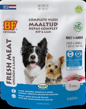 BIOFOOD | Vleesvoeding compleet  KIP & LAM | (7 x 90 gram)