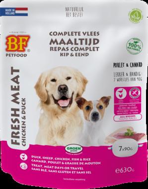 BIOFOOD | Vleesvoeding compleet KIP & EEND | (7 x 90 gram)