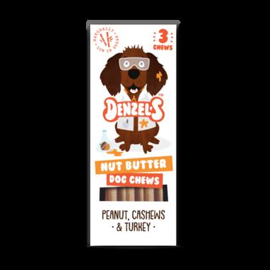 DENZEL'S CHEWS | Dental NUT BUTTER - pinda, cashew, kalkoen | 3 stuks