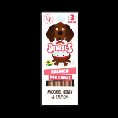 DENZEL'S CHEWS | Dental BRUNCH - avocado, honing, zalm | 3 stuks