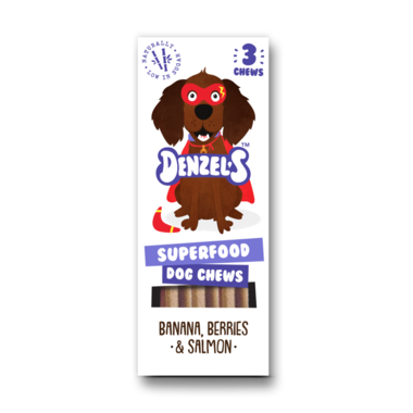 DENZEL'S CHEWS | Dental SUPERFOOD - banaan, bes, zalm | 3 stuks