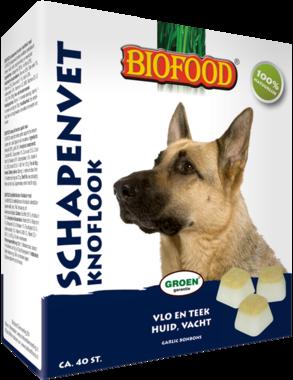 BIOFOOD | Schapenvet - KNOFLOOK | 40 stuks
