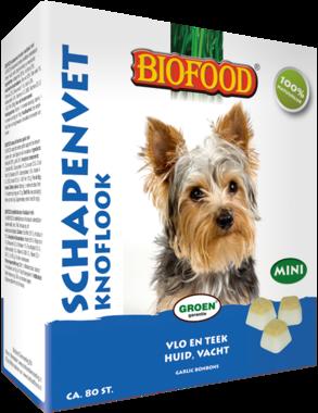 BIOFOOD | Schapenvet - KNOFLOOK | 80 stuks MINI