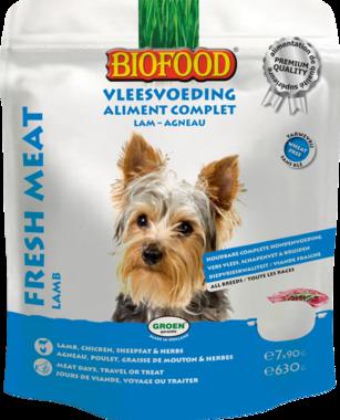BIOFOOD | Vleesvoeding compleet LAM / KIP | (7 x 90 gram)