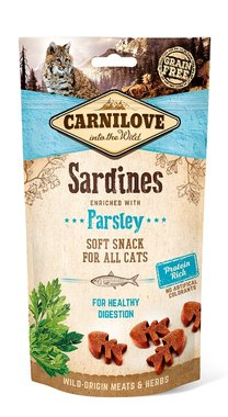 CARNILOVE CAT | Soft Snack Sardines met peterselie | 50 gram