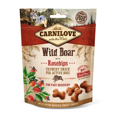 CARNILOVE DOG | Crunchy Snack Wild Zwijn met rozebottels | 200 gram