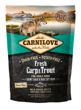 CARNILOVE DOG | Fresh Karper & forel | 1,5 KG