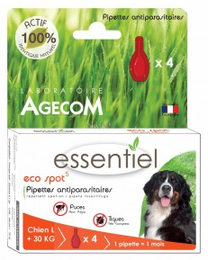 ECO SPOT | HOND 30+  KG | 4 x pipet