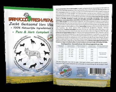 FARM FOOD | Fresh MENU - houdbaar - Pens en Hart Compleet | 300 gram
