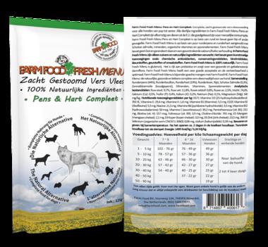 FARM FOOD | Fresh MENU - houdbaar - Pens en Hart Compleet | 125 gram