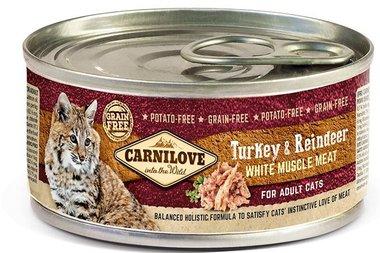 CARNILOVE CAT | Kalkoen & Rendier | 100 gram