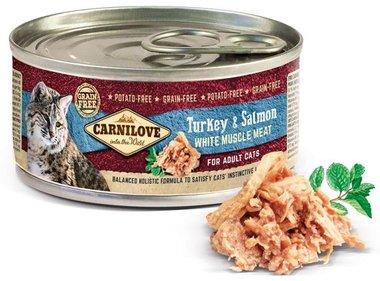 CARNILOVE CAT | Kalkoen & Zalm | 100 gram
