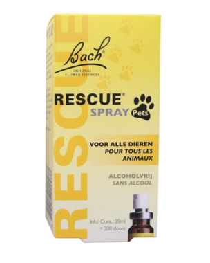 BACH RESCUE Remedy | Spray PETS (zonder alcohol) | 20 ml