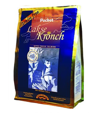 HENNE KRONCH | Zalmsnacks 85% ZALM - POCKET | HOND | 600 gr
