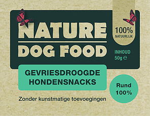 NATURE DOGFOOD | gevriesdroogd 100% RUND | 50 gram