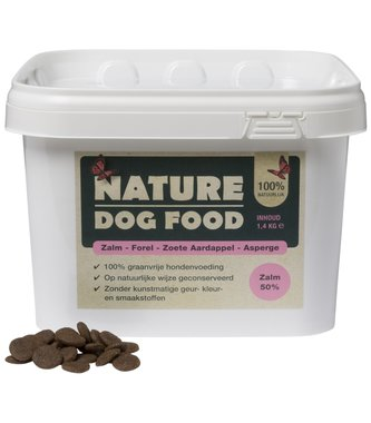 NATURE DOGFOOD | Zalm/Forel & Asperge | 1,4 kg