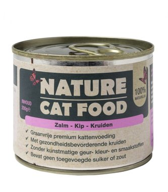 Nature Catfood | Zalm, Kip en Kruiden | 200 gram