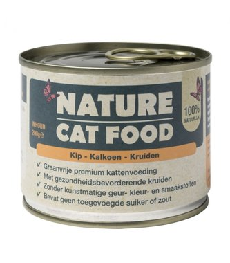 Nature Catfood | Kip, Kalkoen en Kruiden | 200 gram