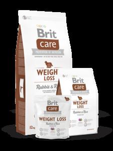 BRIT CARE | WEIGHT LOSS (Konijn/Rijst) Hypoallergeen | 1 kg