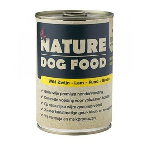 nature dog food wild zwijn lam rund braam