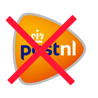niet verzonden met Post NL